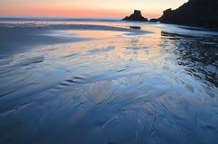 Sunset on atlantic coast Royalty Free Stock Image