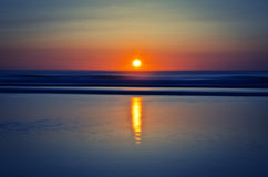 Sunset on atlantic coast Stock Images
