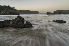 Sunset at the atlantic coast of Spain Royalty Free Stock Photo