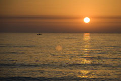 Sunset in Atlantic Ocean Royalty Free Stock Photos