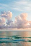 Sunset on the Atlantic ocean Royalty Free Stock Photo