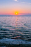 Sunset on Atlantic ocean Royalty Free Stock Images