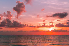 Sunset on the Atlantic ocean Stock Images