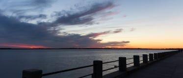 Sunset, Atlantic Ocean, Charleston, NC. Sunset, Atlantic Ocean, Charleston, North Carolina Stock Image