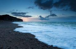 Sunset on Atlantic ocean coast Stock Photos