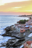 Sunset at Atlantic Ocean Fisherman Village in Morocco Stock Photography