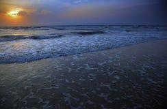 Sunset at Atlantic Ocean Stock Photos