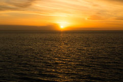 Sunset at the atlantic ocean Royalty Free Stock Image
