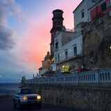 Sunset in Atrani Royalty Free Stock Images