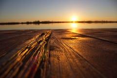 Sunset. Autumn sunset on the lake Stock Photography