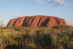 SUNSET (Ayers rock). Red center Australia Royalty Free Stock Photo