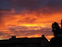 Sunset az style royalty free stock photography