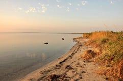Sunset on the Azov estuaries Stock Image