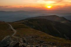 Sunset on Babia Mountain. royalty free stock photos