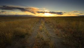 Sunset Back Road Royalty Free Stock Photography