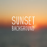 Sunset background Stock Image