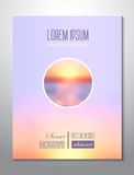 Sunset background. Brochure light cover design tem Royalty Free Stock Photo