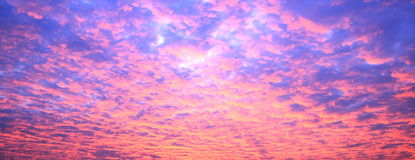 Sunset background. Background with sunset and clouds Stock Photography