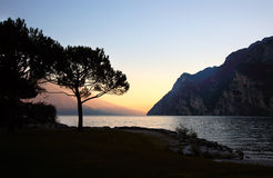 Sunset on the background of the lake Royalty Free Stock Images