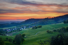 Sunset in Baden-Württemberg - landscape Royalty Free Stock Photos