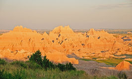 Sunset in badlands Stock Photography