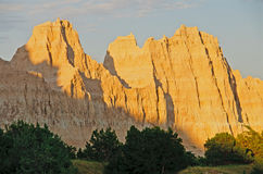 Sunset on a Badlands Rdige Royalty Free Stock Photography