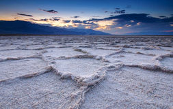 Sunset at Badwater Basin stock images