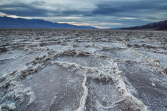Sunset at the Badwater Basin. Stock Image