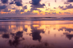 Sunset on Baga beach. Goa Stock Images