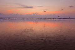 Sunset on Baga beach. Goa Royalty Free Stock Image