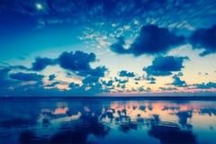 Sunset on Baga beach. Goa Royalty Free Stock Images