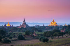 Sunset in Bagan Royalty Free Stock Images