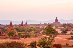 Sunset in Bagan Royalty Free Stock Photos