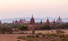Sunset in Bagan Stock Image