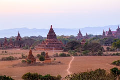 Sunset in Bagan Stock Photography