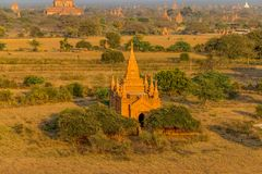 Sunset in Bagan Royalty Free Stock Photography