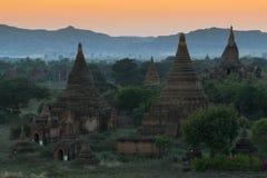 Sunset at Bagan Stock Image