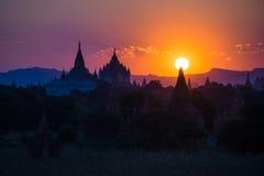 Sunset at Bagan. Myanmar Royalty Free Stock Image
