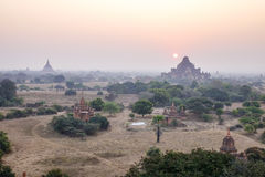 Sunset in Bagan, Myanmar Stock Images