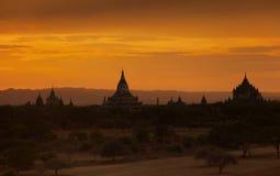Sunset in Bagan Myanmar Royalty Free Stock Photo