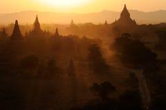 Sunset at Bagan, Myanmar (Burma) Stock Images