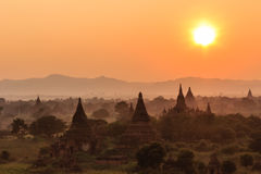 Sunset  ,  Bagan in Myanmar (Burmar) Stock Photos