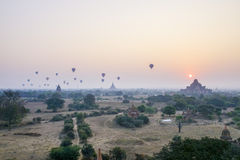 Sunset in Bagan, Myanmar Stock Photos