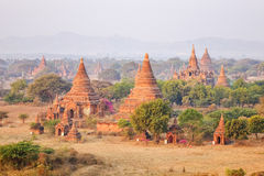 Sunset on Bagan, Myanmar Stock Image