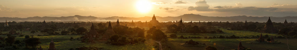 Sunset in Bagan Royalty Free Stock Image
