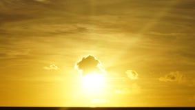 Sunset. Bahamas sunset sun clouds light sky Stock Photos