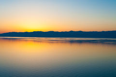 Sunset at Baikal, Siberia Royalty Free Stock Photos