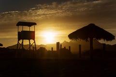 Sunset in Baja California Royalty Free Stock Photos