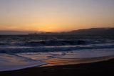 Sunset from Baker Beach Royalty Free Stock Photography