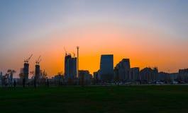 Sunset in Baku Royalty Free Stock Images
